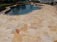 Newly Cleaned and Sealed Travertine Pictures