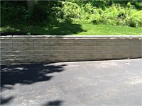 Cleaning Retaining Walls
